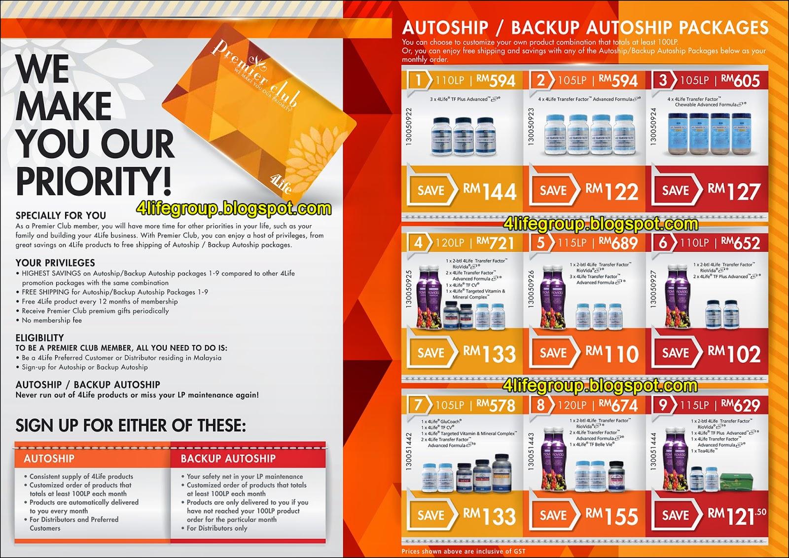 foto Autoship / Backup Autoship 4Life Premier Club 4Life Malaysia (2)
