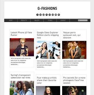 g fashions blogger tema