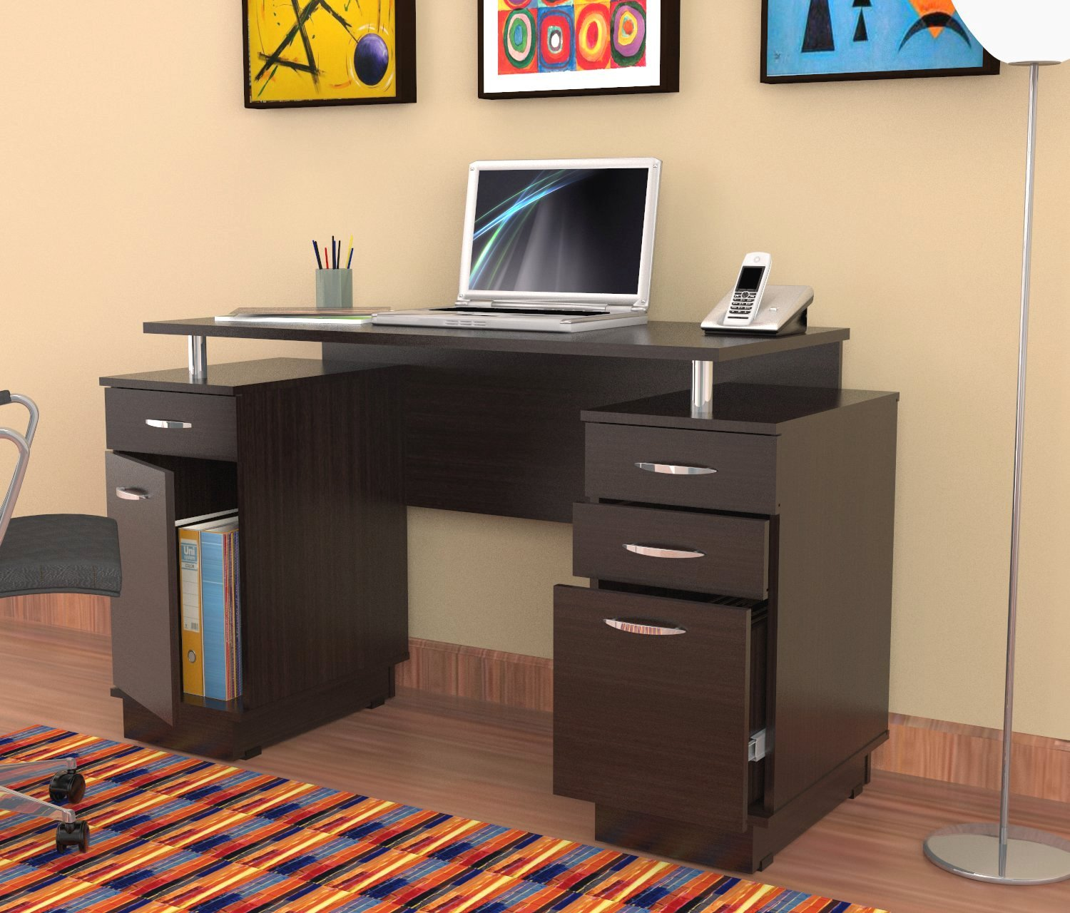 total fab desks with file cabinet drawer for small home offices