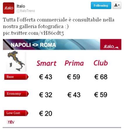 tariffe Italo
