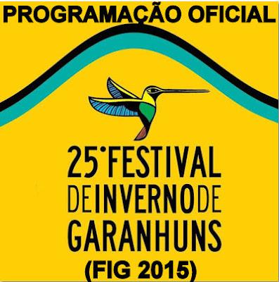 Programação FIG 2015 ; Garanhuns