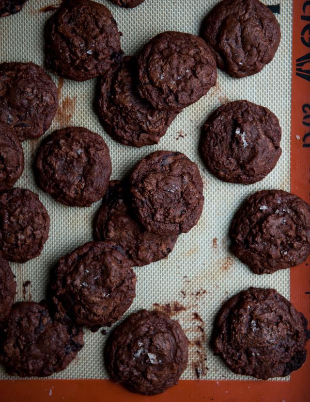 Desserts for Breakfast: Salted Dark Chocolate Espresso Cookies