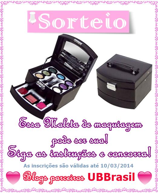 Sorteio da UBBrasil em parceria com Nosso Blog Diário.