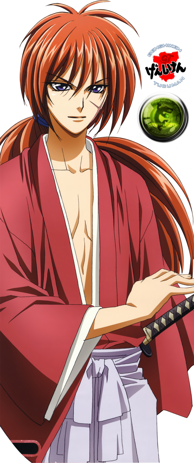Himura Kenshin known as the legendary hitokiri of the Meiji Revolution Himura Battōsai 緋村抜刀斎 is the main protagonist and titular character of the