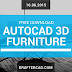 Free Download - Autocad 3D Library Furniture 41 items