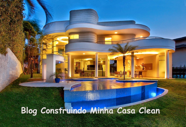 Construindo minha casa clean abril 2014 for Casas modernas brasil