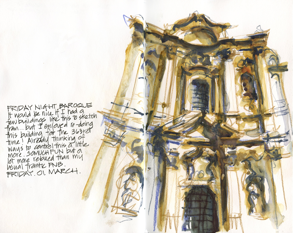 Baroque Architecture Drawings Baroque Facade to Draw