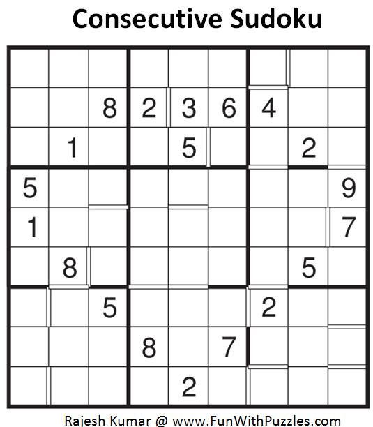 Consecutive Sudoku (Fun With Sudoku #86)