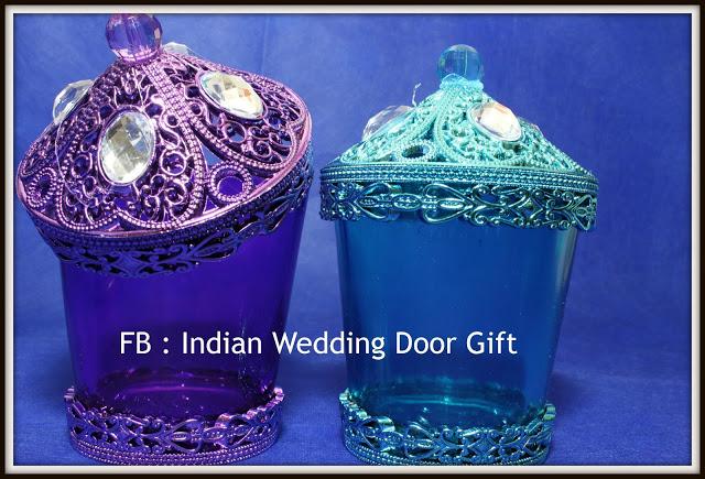 Indian Wedding Door Gift Glass Jar With Lid
