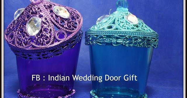 Indian Wedding Door Gift: Glass Jar With Lid