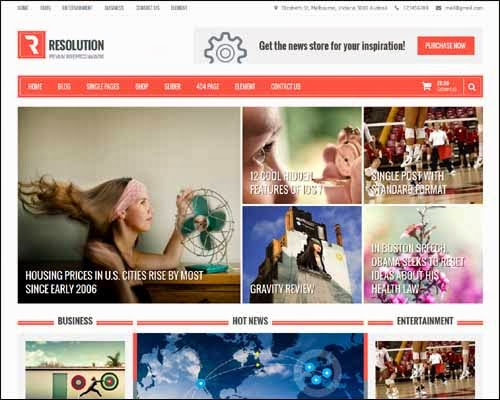 Resolution Free Responsive WordPress Theme