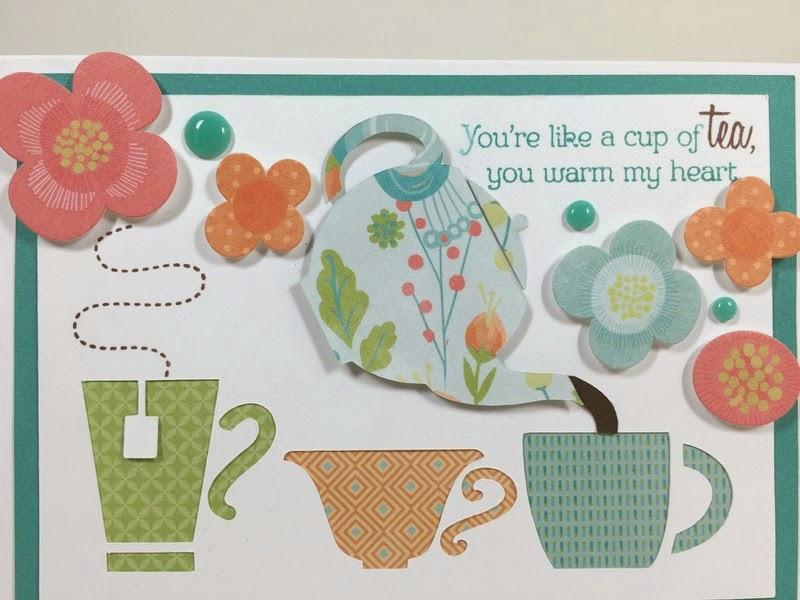 Cricut Tea Party card