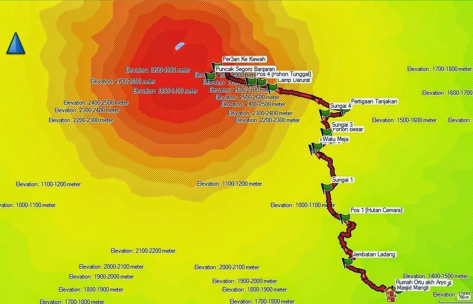peta sumbing mangli