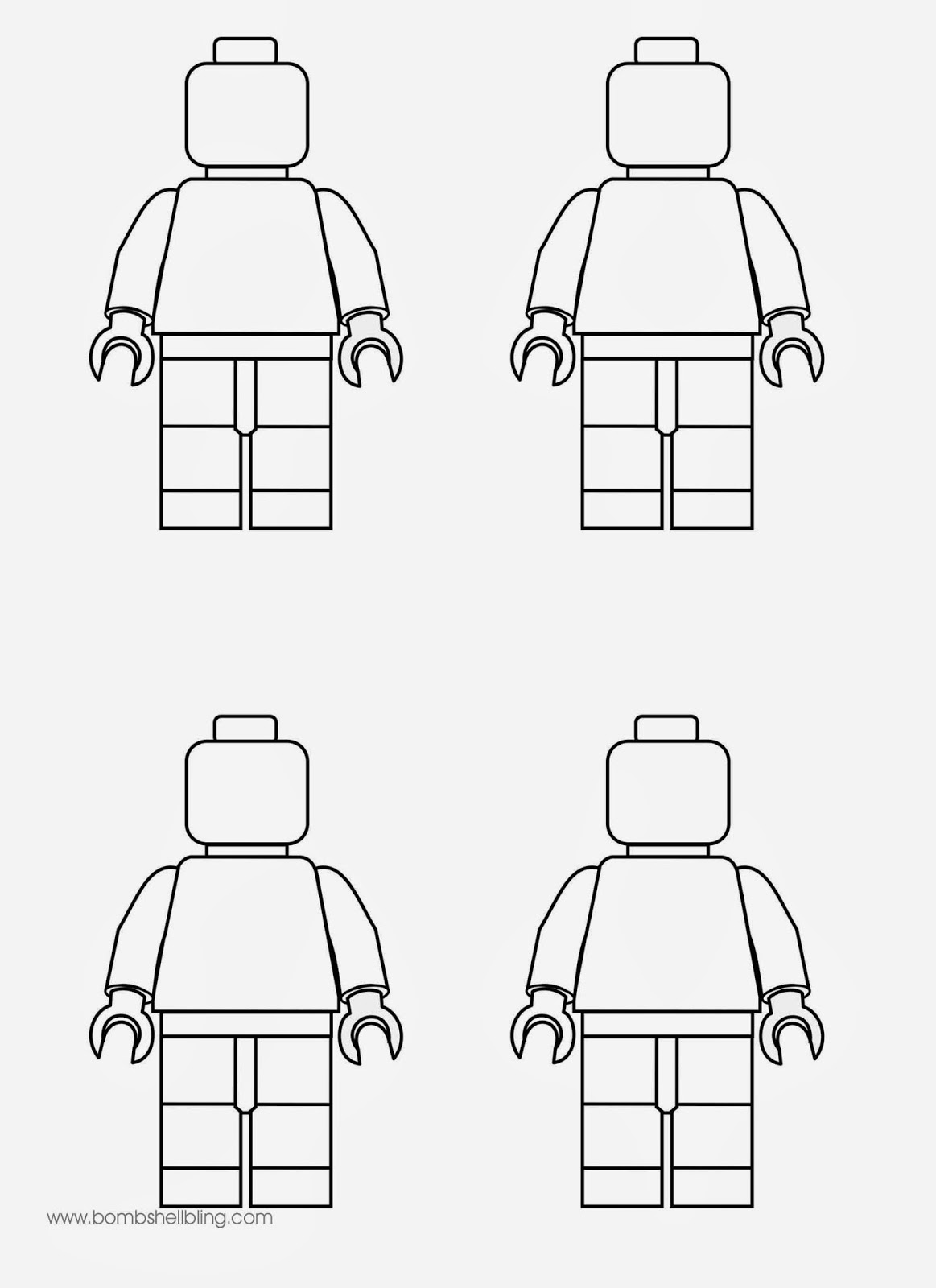 Lego Minifigures Coloring Sheets Coloring Coloring Pages