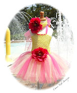 Strawberry Lemonade Toddler Tutu Dress - Headband