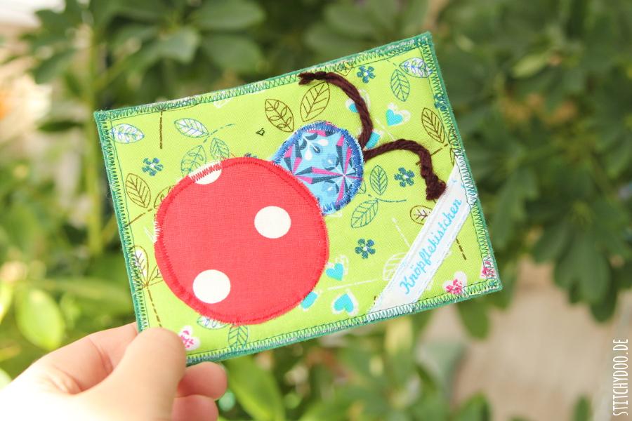 Stoffkartentausch 2015 | Diese Frühlingsboten brachte der April - Marienkäfer von Janet