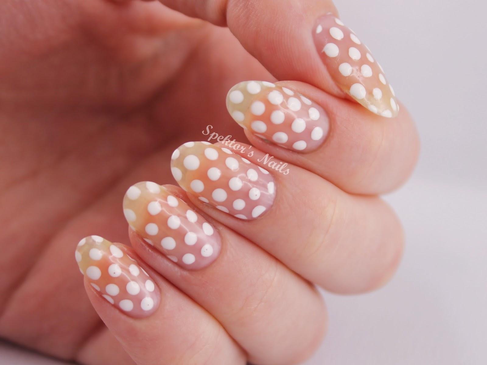 White Polka Dots