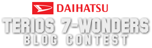 Daihatsu Terios 7 Wonders Blog Contest