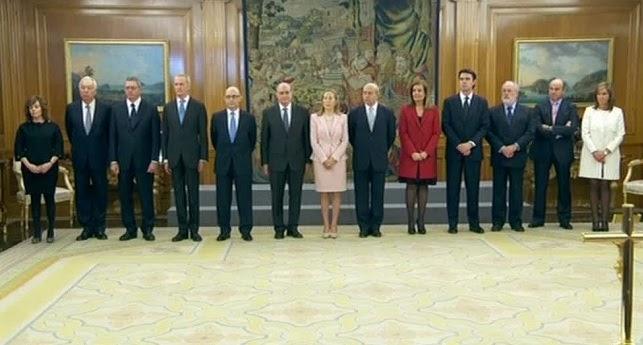 Seguridad privada los ministros del primer gobierno de for Ministros del gobierno