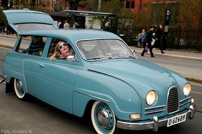 veteranbil, äldre bil, chalmers, cortegen, kortegen, chalmerskortegen, chalmerskortegen, valborg, valborgsmässoafton, göteborg, foto anders n