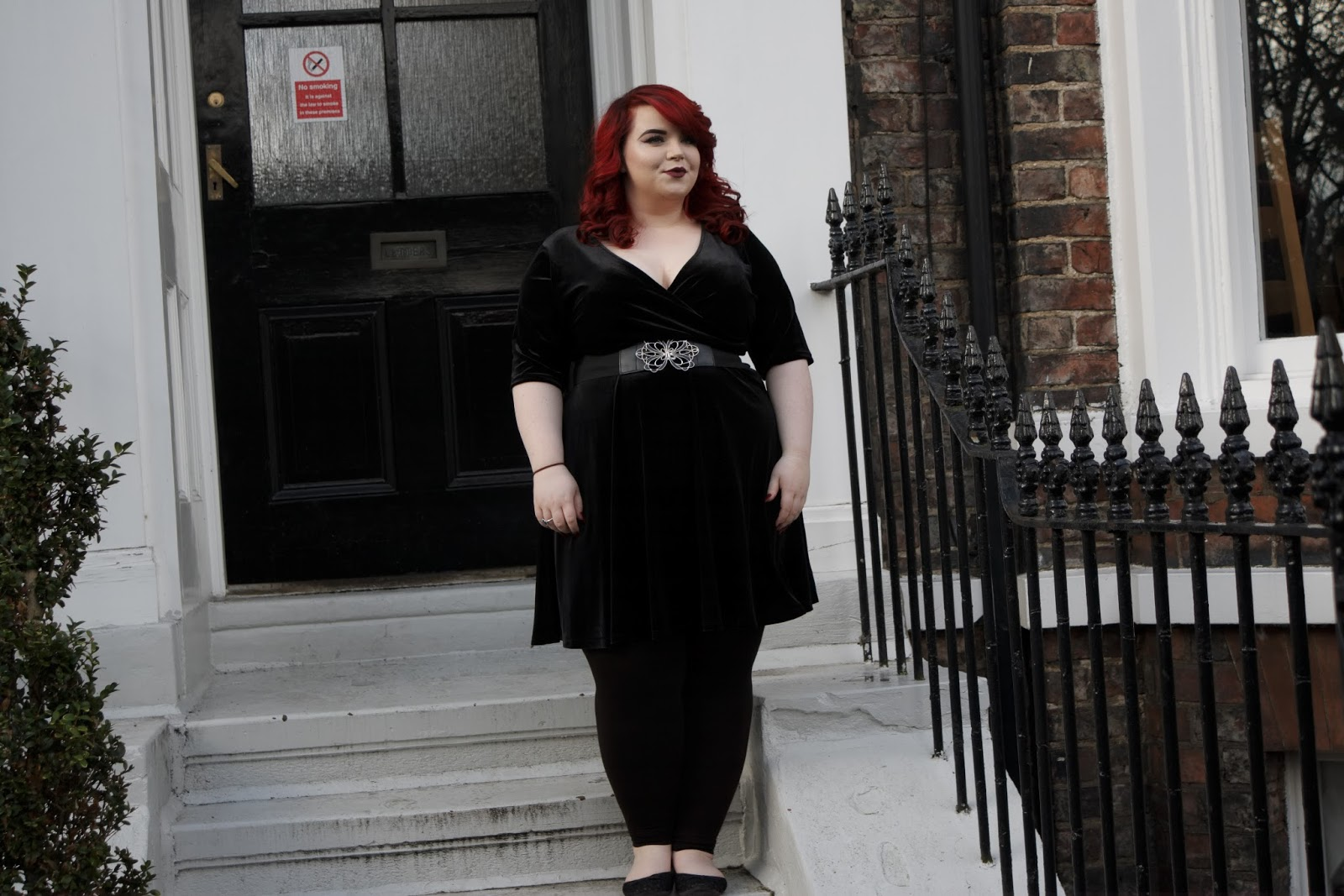 Pink Clove Black Velvet Empire Dress, georgina grogan, shemightbeloved, plus size blogger, sheffield blogger