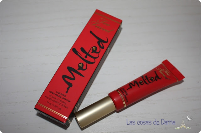 lipstick; melted; toofaced; strawberry; spring; labial