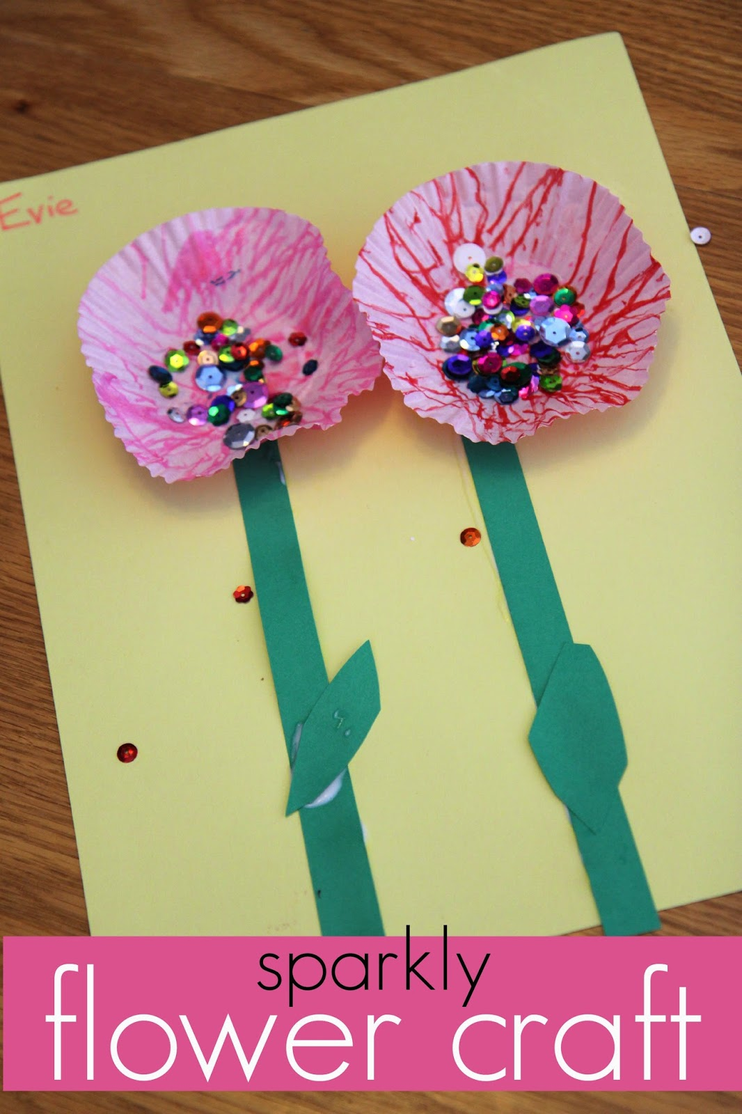 Sparkly Flower Craft Which I Shared Over At Teach Mama