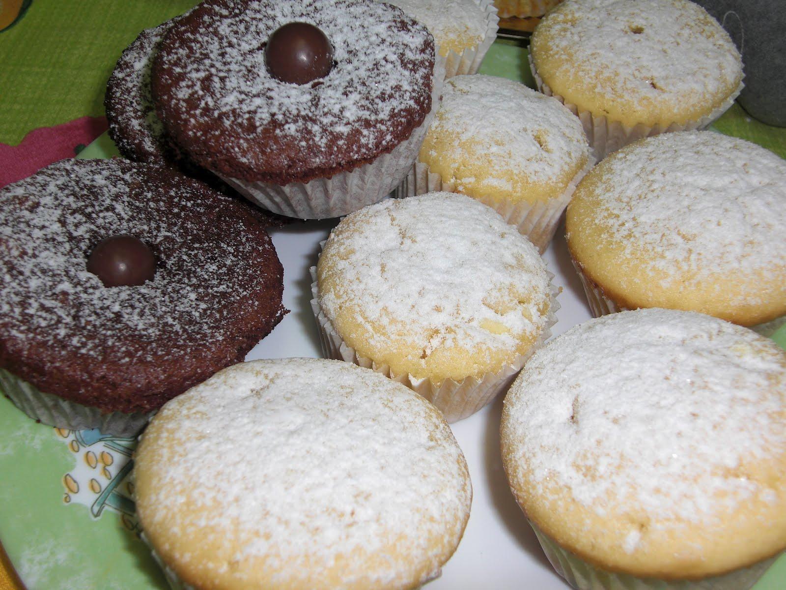 Chocolate vainilla y algo m s magdalenas de chocolate for Hornear a blanco