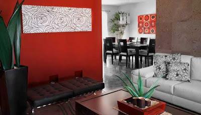 Decoraciones y modernidades color rojo en modernos interiores - Interiores modernos de casas ...