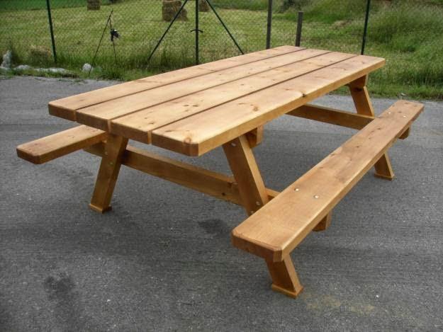 Como hacer una mesa para jardin picnic ingeniando for Mesas para jardin
