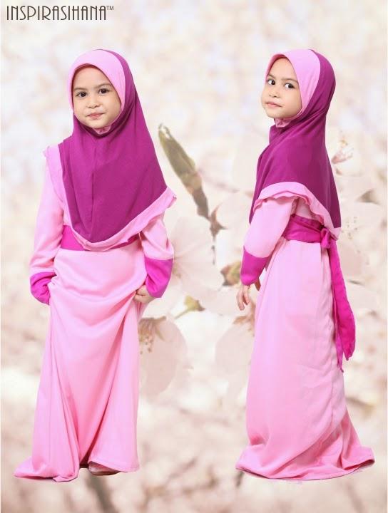 Jubah Kanak kanak Cantik dengan warna yang ceria