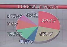 LTRO 国別 供給額 シェア