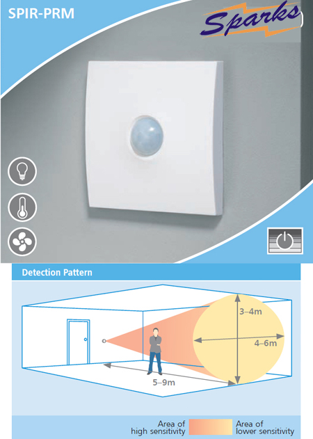 CP Electronics SPIR-PRM PIR Wall Switch with Presence Detector