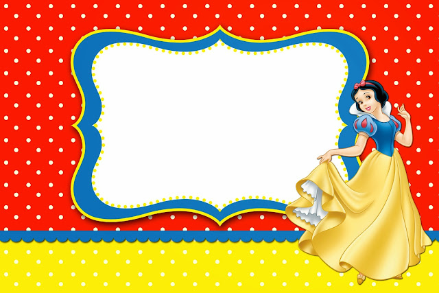 Snow White: Free Printable Invitations, Labels or Cards ...