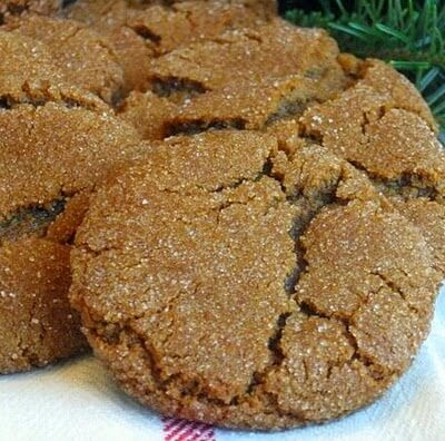 Molasses Cookies Recipe, Laaloosh, 52 calories or 2P+