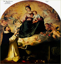St. Dominic receives the Rosary from Mary