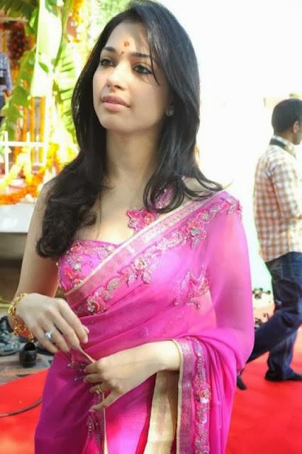 Tamanna Bhatia in Pink Saree