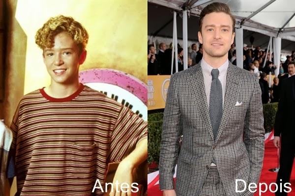 Antes e depois dos famosos - Justin Timberlake