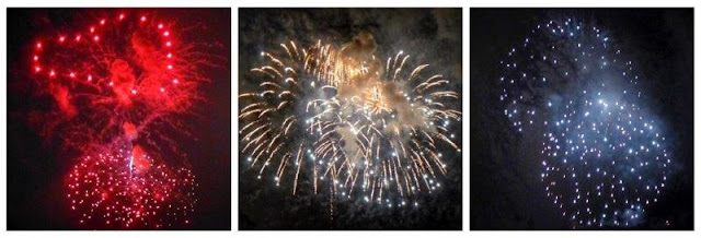 Fuegos artificiales en la Gran Noche de los Fuegos de la Semana Grande de Gijon 2015