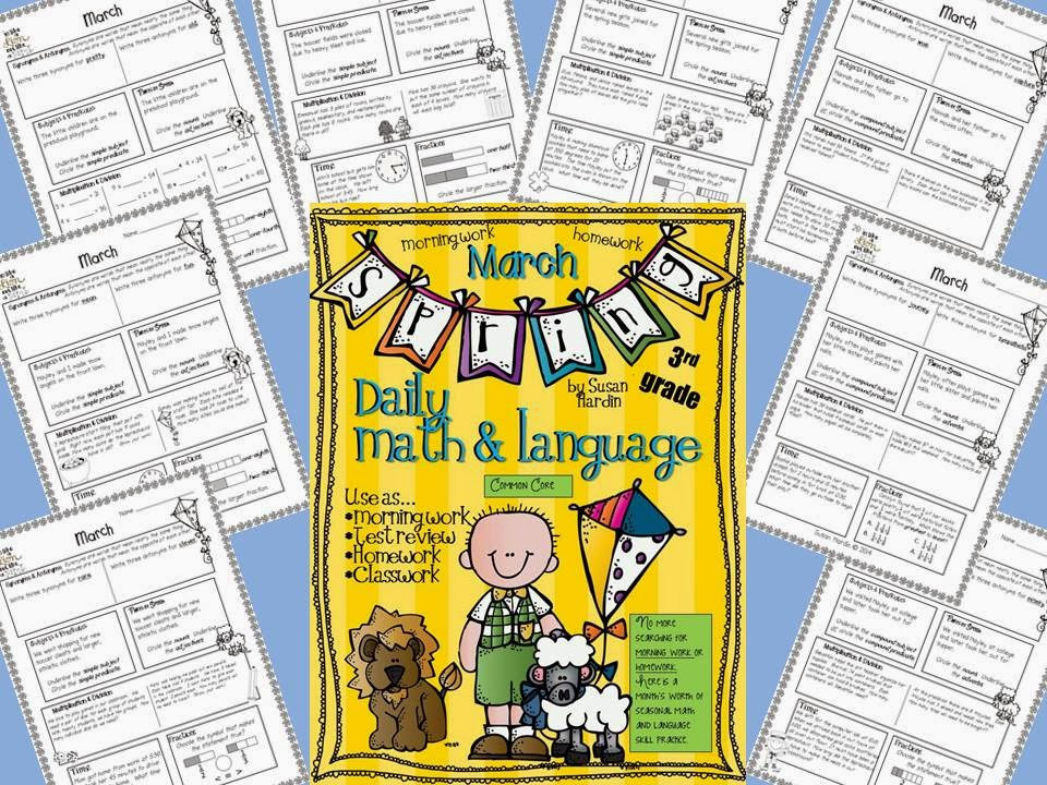 http://www.teacherspayteachers.com/Product/Daily-Math-and-Language-March-1122220