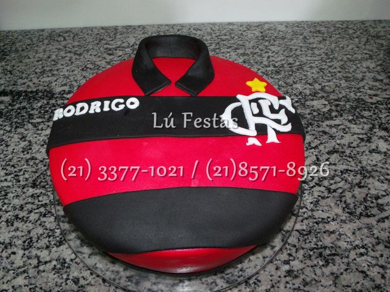 Lú festas: Bolo Camisa Flamengo