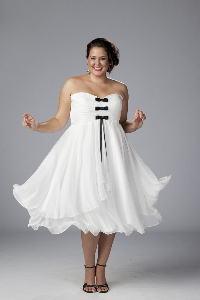 White Plus Size Prom Dresses 4