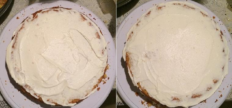Eggless Custard Cake