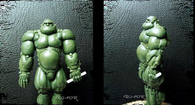 Miniatura realizada por ªRU-MOR basada en una ilustración de Chichoni. De temática Sci-Fi, cibernético y robótico. Warhammer 40000