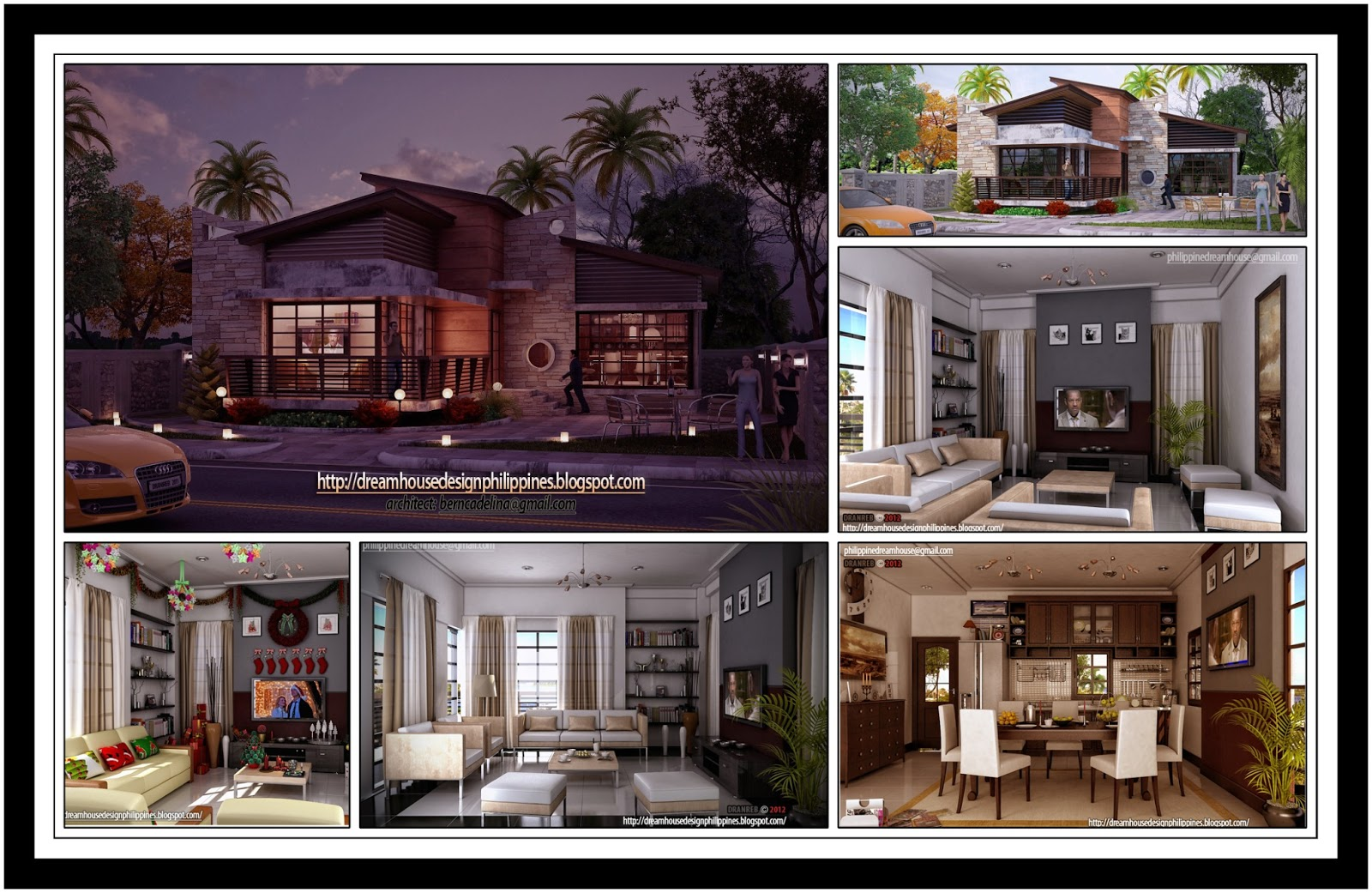 Philippine dream house design post modern house 2 updates for Post modern home design