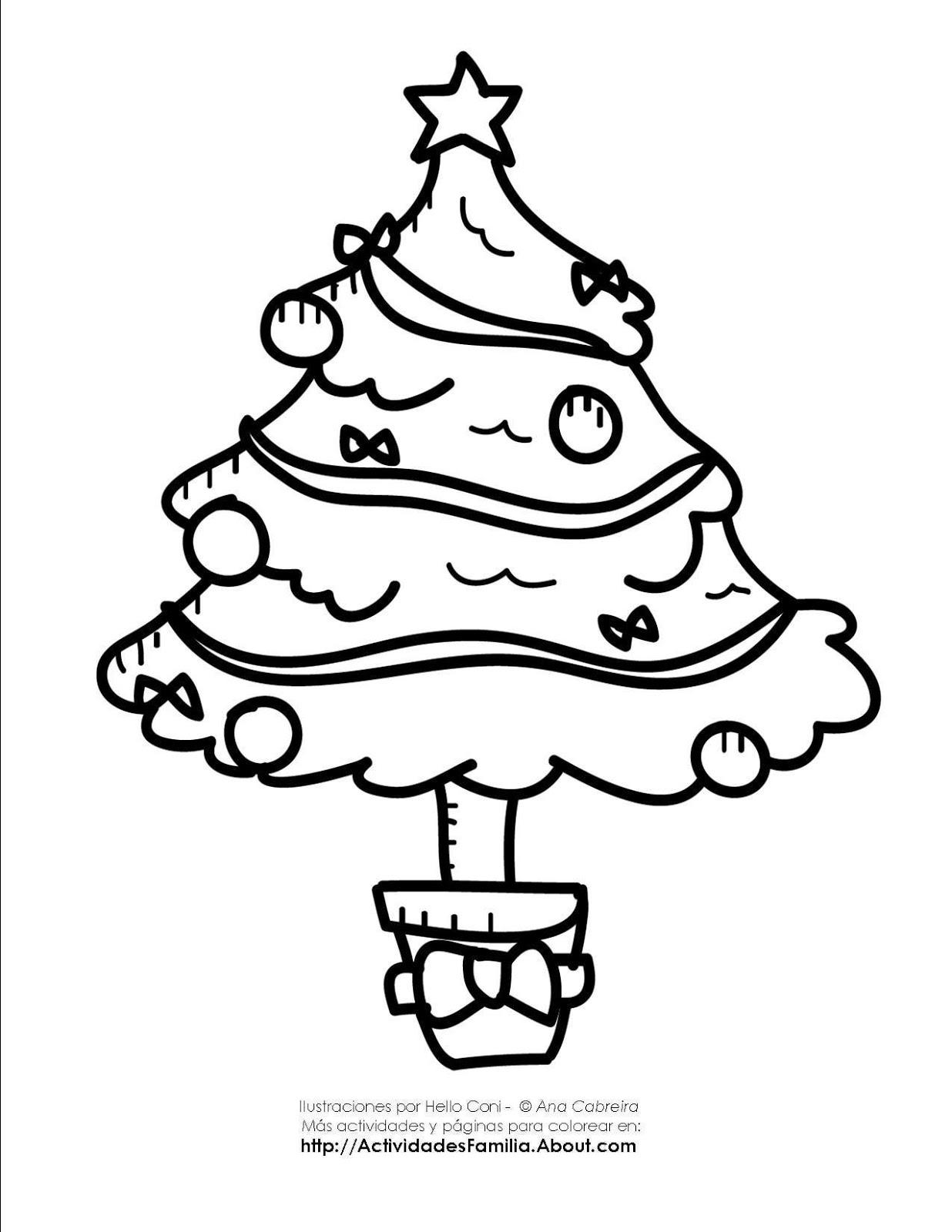 De navidad para colorear 2 arbol de navidad para colorear - Arbol de navidad para colorear ...