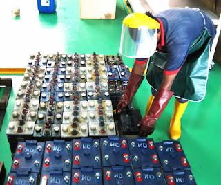 Industrial forklift batteries