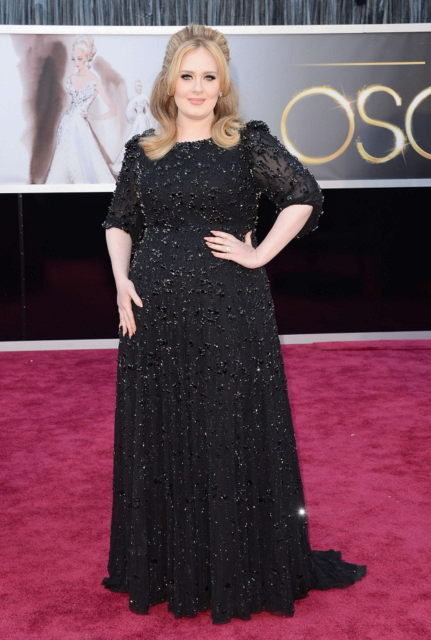 Adele - Celebrity Fashion at the 2013 Oscars