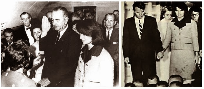 Jacqueline Kennedy Pink Chanel Suit Blood