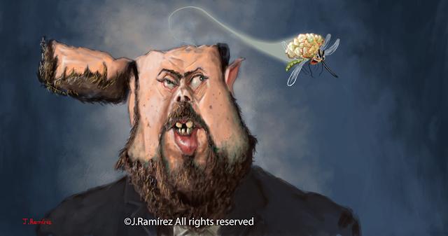 Oriol Junqueras Goebbles Radovan Karadzic caricature